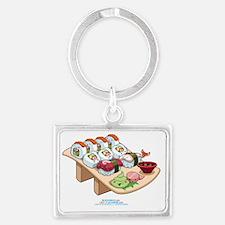 Kawaii-Cali-Sushi-Cafe-Trans Landscape Keychain