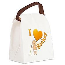 Baby I Love Hockey Canvas Lunch Bag
