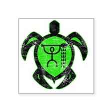"hawaiianturtlepaddler2 Square Sticker 3"" x 3"""