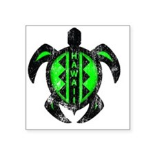 "300px8x8grhawaiiturtle22 Square Sticker 3"" x 3"""