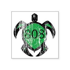 """808turtle Square Sticker 3"""" x 3"""""""