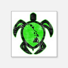 "greenhiislandturtle4-1-082 Square Sticker 3"" x 3"""