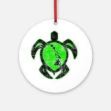 greenhiislandturtle4-1-082 Round Ornament
