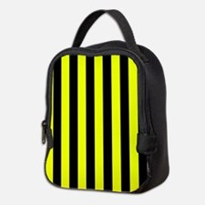 Yellow And Black Stripes Neoprene Lunch Bag
