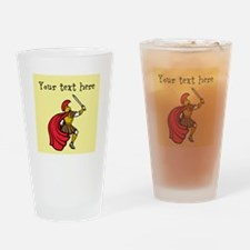 Customizable Santa and Gifts Drinking Glass