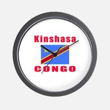 Kinshasa Congo Designs Wall Clock