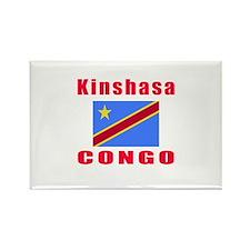 Kinshasa Congo Designs Rectangle Magnet