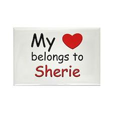 My heart belongs to sherie Rectangle Magnet