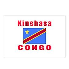 Kinshasa Congo Designs Postcards (Package of 8)