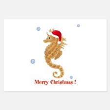 Personalized Christmas Seahorse Invitations