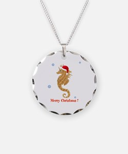 Personalized Christmas Seahorse Necklace
