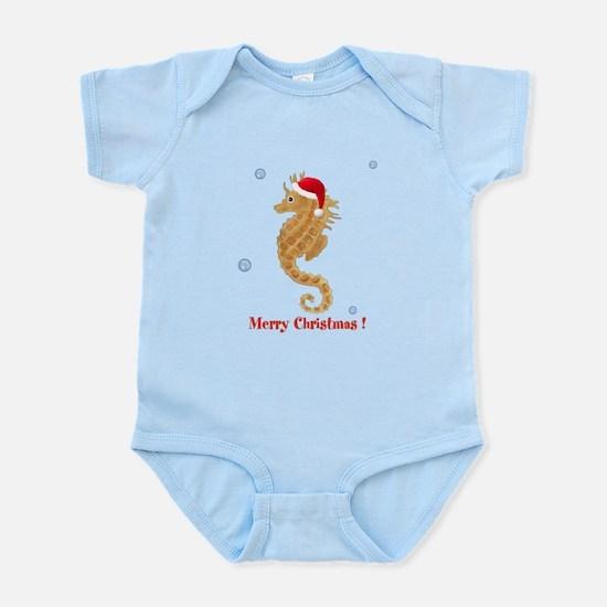 Personalized Christmas Seahorse Infant Bodysuit