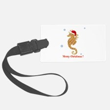 Personalized Christmas Seahorse Luggage Tag