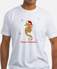 Personalized Christmas Seahorse Shirt
