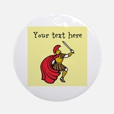 Customizable Santa and Gifts Ornament (Round)