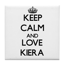 Keep Calm and Love Kiera Tile Coaster