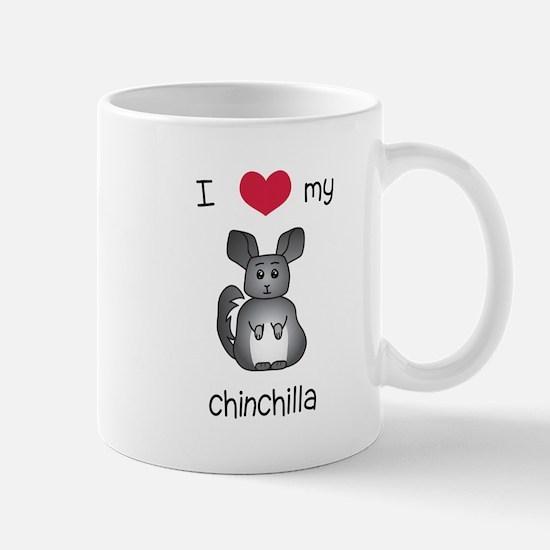 I Heart My Chinchilla Mugs