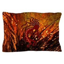 Kokopelli and Fireflies Pillow Case