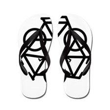 recycle motion of bike and life Flip Flops