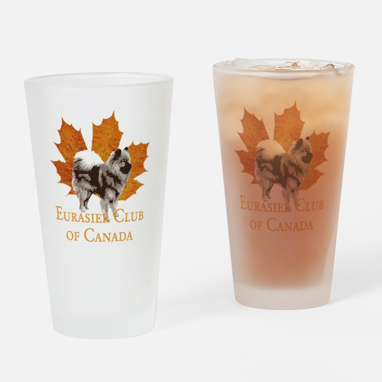 Large Logo 4 Black Drinking Glass