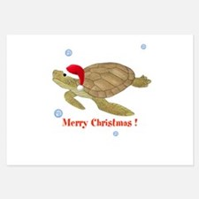 Personalized Christmas Sea Turtle Invitations
