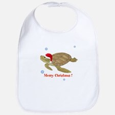 Personalized Christmas Sea Turtle Bib