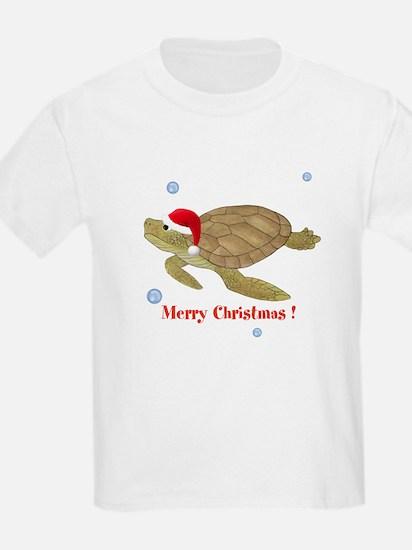 Personalized Christmas Sea Turtle T-Shirt