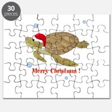 Personalized Christmas Sea Turtle Puzzle