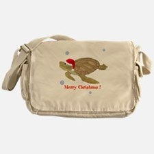 Personalized Christmas Sea Turtle Messenger Bag