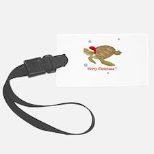 Personalized Christmas Sea Turtle Luggage Tag