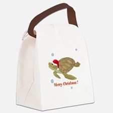 Personalized Christmas Sea Turtle Canvas Lunch Bag