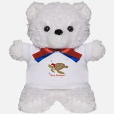 Personalized Christmas Sea Turtle Teddy Bear