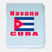 Havana Cuba Designs baby blanket