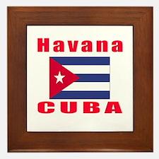 Havana Cuba Designs Framed Tile
