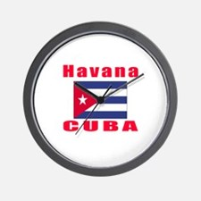 Havana Cuba Designs Wall Clock