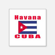 "Havana Cuba Designs Square Sticker 3"" x 3"""