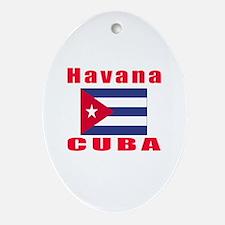 Havana Cuba Designs Ornament (Oval)