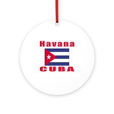Havana Cuba Designs Ornament (Round)