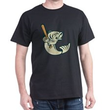 Largemouth bass baseball bat T-Shirt