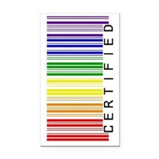 Certified Rainbow Barcode-sid Rectangle Car Magnet