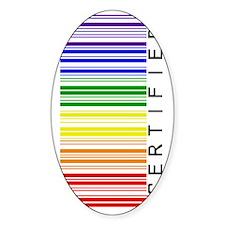 Certified Rainbow Barcode-sideways Decal