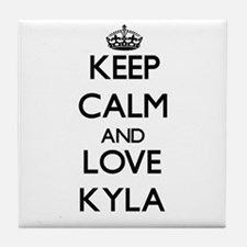 Keep Calm and Love Kyla Tile Coaster