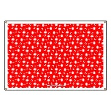 Red SC Palmetto Moon Flag Banner