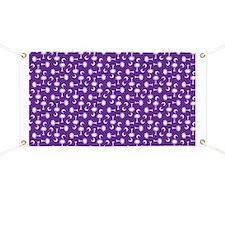 Purple SC Palmetto Moon Flag Banner