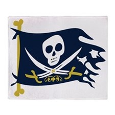 Pirate Flag Throw Blanket