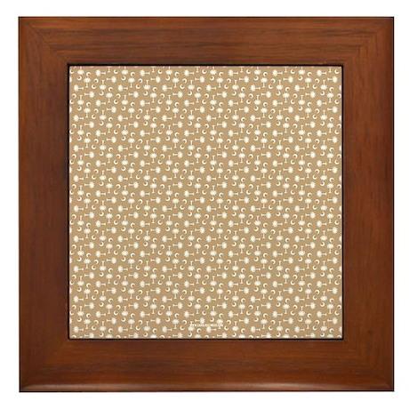 Khaki SC Palmetto Moon Flag Framed Tile