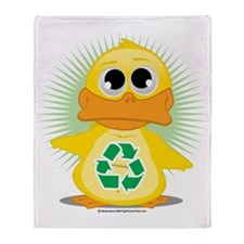 Recycle-Duck Throw Blanket
