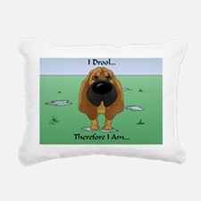 BloodhoundDroolCard Rectangular Canvas Pillow