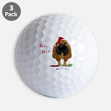 BloodhoundBlueShirt Golf Ball