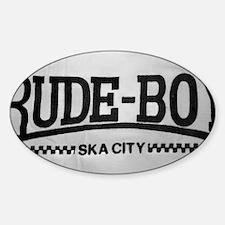 Rude Boy Ska City OiSKINBLU Sticker (Oval)